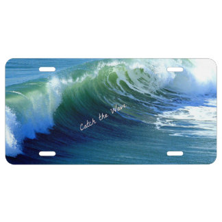 Catch the Wave License Plate