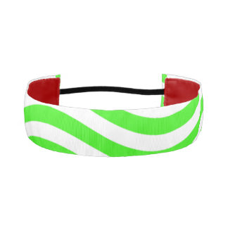 CATCH THE WAVE - NEON GREEN ~~ ATHLETIC HEADBANDS