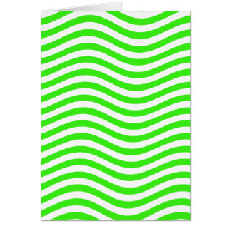 CATCH THE WAVE - NEON GREEN ~~ CARD