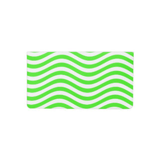 CATCH THE WAVE - NEON GREEN ~~ CHECKBOOK COVER