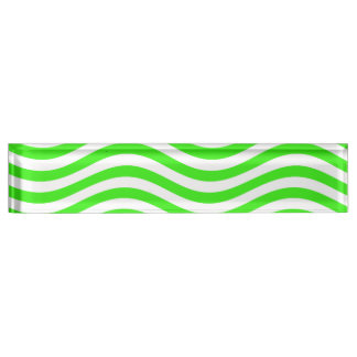 CATCH THE WAVE - NEON GREEN ~~ DESK NAMEPLATE