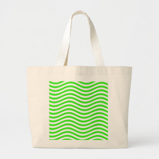 CATCH THE WAVE - NEON GREEN ~~ LARGE TOTE BAG