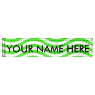 Neon Desk Name Plates #0: catch the wave neon green name plate rca48dafbf a2b017be c51d incka 8byvr 324