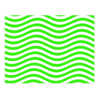 CATCH THE WAVE - NEON GREEN ~~ POSTCARD