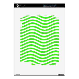 CATCH THE WAVE - NEON GREEN ~~ SKIN FOR iPad 2