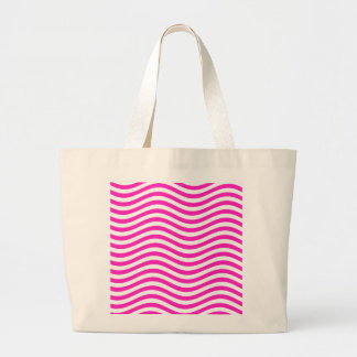 CATCH THE WAVE - NEON PINK ~~ LARGE TOTE BAG