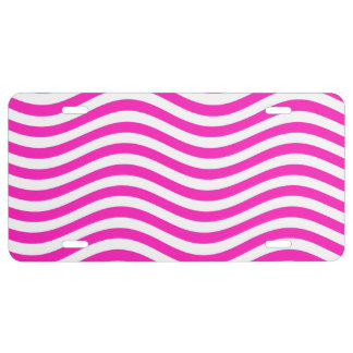 CATCH THE WAVE - NEON PINK ~~ LICENSE PLATE