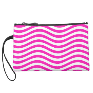 CATCH THE WAVE - NEON PINK ~~ SUEDE WRISTLET WALLET