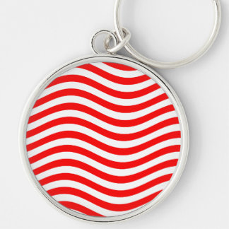 CATCH THE WAVE - ORANGE CREME ~ ~ Silver-Colored ROUND KEYCHAIN