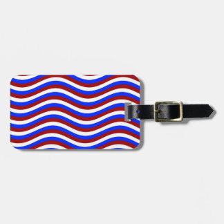 CATCH THE WAVE - PATRIOTIC ~ ~ TRAVEL BAG TAGS