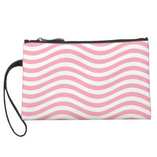 CATCH THE WAVE - PINK ~ ~ SUEDE WRISTLET WALLET
