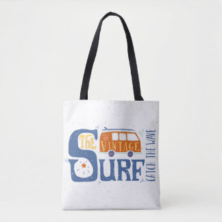 Catch The Wave Poster Tote Bag
