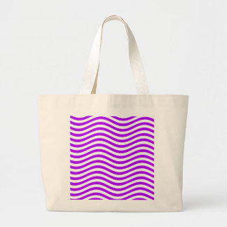 CATCH THE WAVE - PURPLE ~ ~ LARGE TOTE BAG
