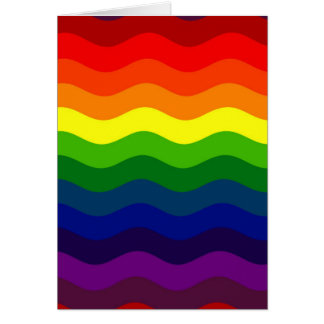 CATCH THE WAVE - RAINBOW (stripes) ~ Greeting Card