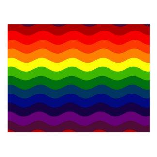 CATCH THE WAVE - RAINBOW (stripes) ~ Postcard