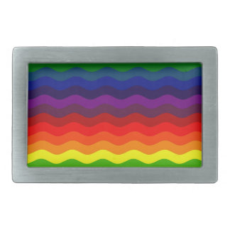 CATCH THE WAVE - RAINBOW STRIPES ~v.2~ Belt Buckle