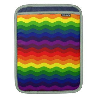 CATCH THE WAVE - RAINBOW STRIPES ~v.2~ iPad Sleeves
