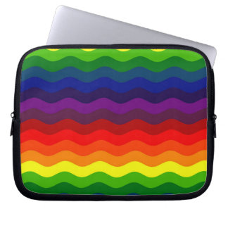CATCH THE WAVE - RAINBOW STRIPES ~v.2~ Computer Sleeves