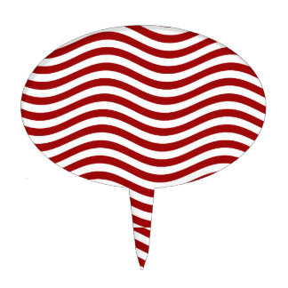 CATCH THE WAVE - RED ~ ~ CAKE TOPPER