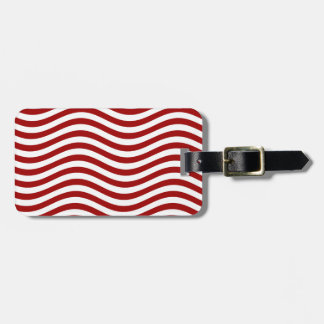 CATCH THE WAVE - RED ~ ~ TRAVEL BAG TAG