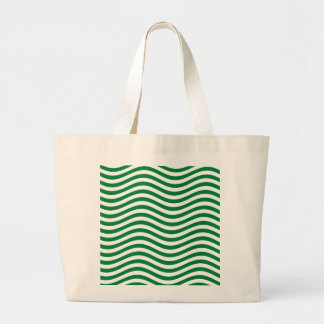 CATCH THE WAVE - SPEARMINT GREEN ~ ~ LARGE TOTE BAG