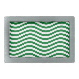 CATCH THE WAVE - SPEARMINT GREEN ~ ~ RECTANGULAR BELT BUCKLE