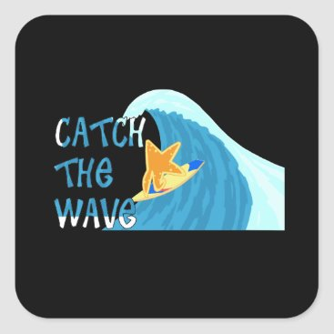 Catch the Wave Square Sticker