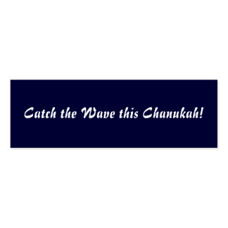 Catch the Wave this Chanukah! Double-Sided Mini Business Cards (Pack Of 20)