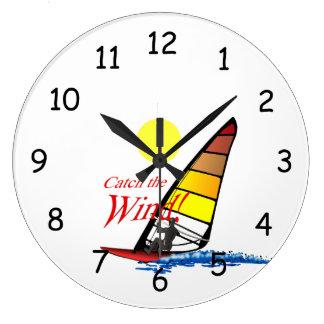 Catch the Wind! Large Clock