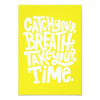 CATCH YOUR BREATH TAKE TIME WORDS WISDOM MOTIVATIO CARD