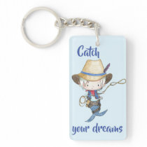 Catch Your Dreams // Cowboy Mermaid Keychain