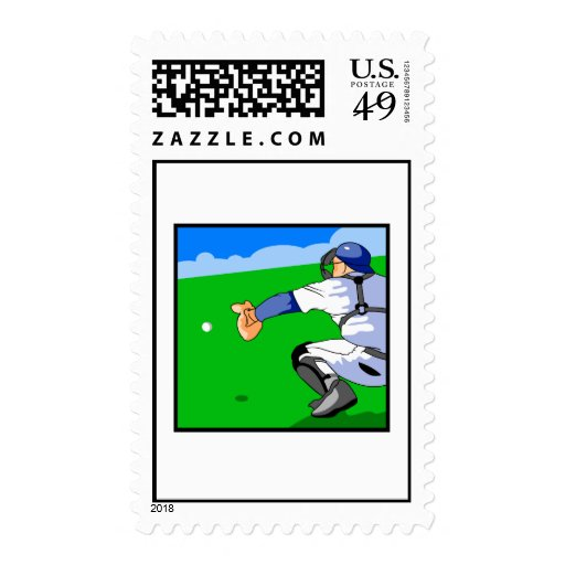Catcher Baseball Stamps