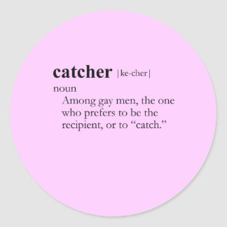 CATCHER (definition) Classic Round Sticker