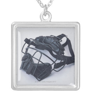 Catcher Mask Silver Plated Necklace