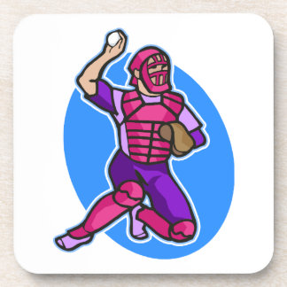 catcher purple pink coaster