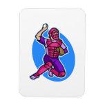 catcher purple pink rectangle magnet