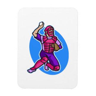catcher purple pink rectangular photo magnet