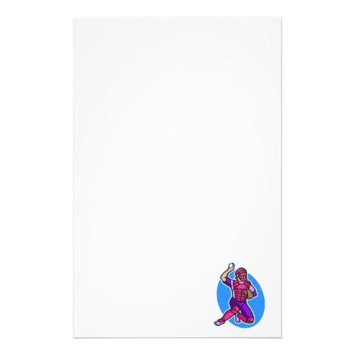 catcher purple pink stationery paper