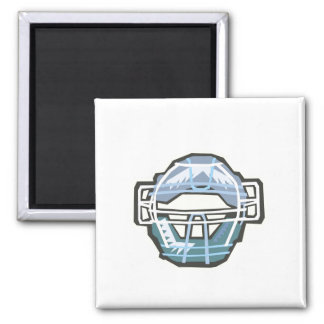 Catchers Mask 2 Inch Square Magnet