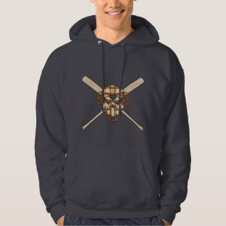 catchers mask and bats baseball icon hoodie