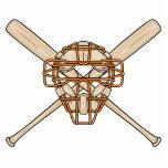catchers mask and bats baseball icon acrylic cut out