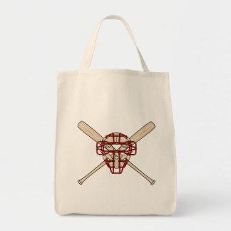 Catchers Mask & Bats Tote Bag