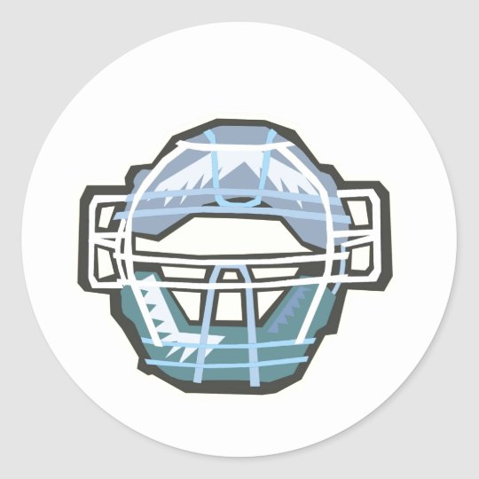 Catchers Mask Classic Round Sticker