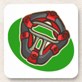 catchers mask drink coaster