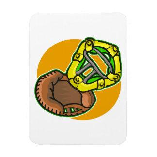 Catchers mask & glove rectangular photo magnet