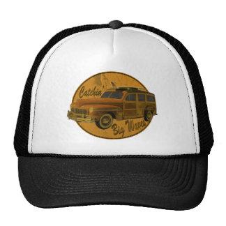 catchin' big waves in the woodie trucker hat