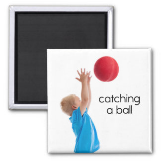 Catching a Ball Refrigerator Magnet