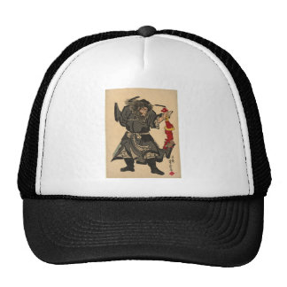 Catching a Demon, Japanese Painting. c. 1860's Trucker Hat