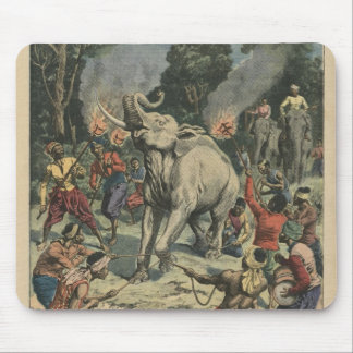 Catching a white elephant in Siam Mouse Pad