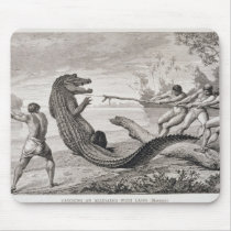 Catching an alligator with lasso mouse pad